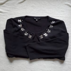 Cable and Gauge black open cardigan size L